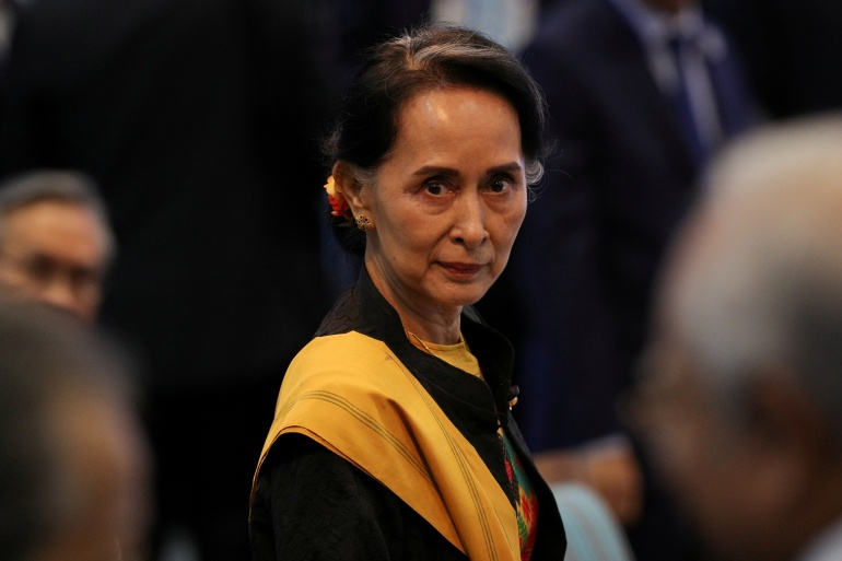 Aung San Suu Kyi's National League for Democracy (NLD) party said that its offices had been raided in several regions [File: Athit Perawongmetha/Reuters]