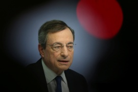 Draghi, 73, is perhaps best known for his intervention as ECB chief during the peak of Europe's debt crisis in 2012 [File: Ralph Orlowski/Reuters]