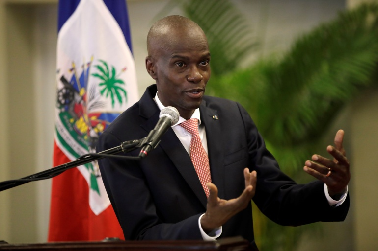 Haiti's President Jovenel Moise says his mandate expires in February 2022, an interpretation of the constitution that has been rejected by the opposition [File: Andres Martinez Casares/Reuters]