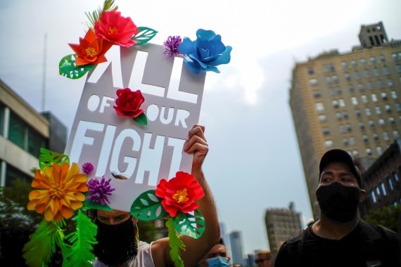 Puerto Rico's 18-month state of emergency directs resources to government agencies to combat violence directed at women and girls and members of the LGBTQ community [File: Eduardo Munoz/Reuters]
