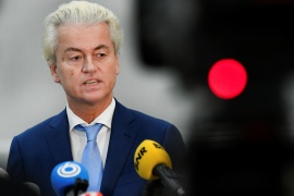 Wilders, leader of the Freedom Party in the Netherlands, is one of Europe's most prominent far-right politicians [Piroschka van de Wouw/Reuters]