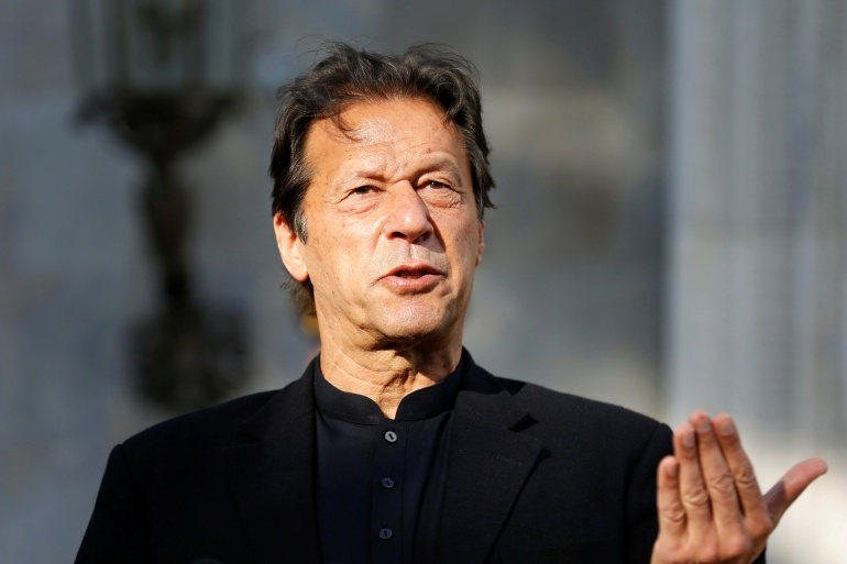 Pakistan's Prime Minister Imran Khan reiterated that his government was prepared to engage in dialogue with India, but only if it revoked its removal of Kashmir's special constitutional status [File: Reuters]