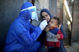In Gaza, 65,500 people have been infected with the coronavirus and 610 deaths recorded since the start of the pandemic [File: Ibraheem Abu Mustafa/Reuters]