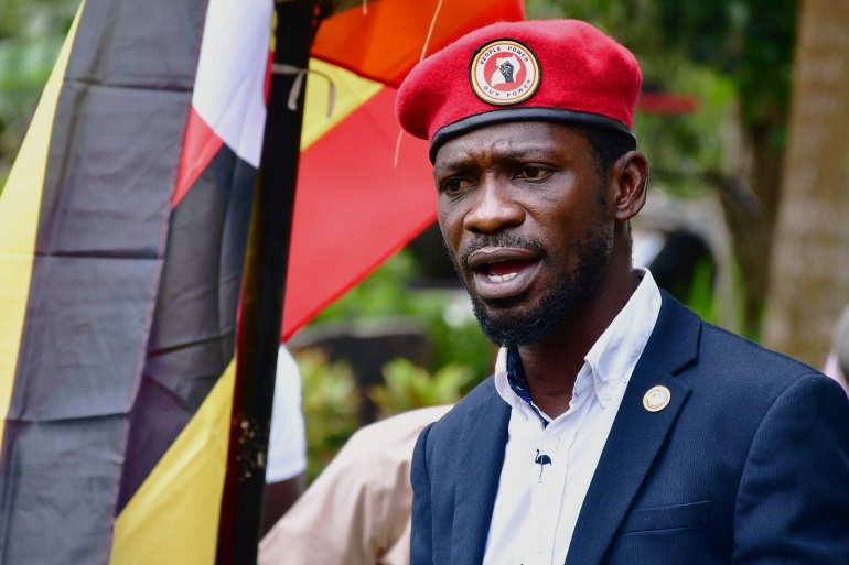 "Bobi Wine said: ""it is clear these people (judges) are working for Mr Museveni"" [File: Abubaker Lubowa/Reuters]"