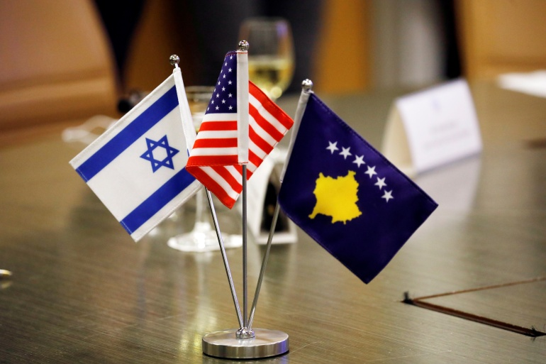 In exchange for Israel's recognition, Kosovo recognised Jerusalem as the capital of Israel [Amir Cohen/Reuters]