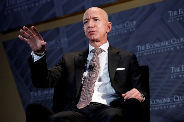 Amazon said Tuesday that Jeff Bezos is stepping down as CEO later this year, a role he has had since he founded the company nearly 30 years ago [File: Joshua Roberts/Reuters]