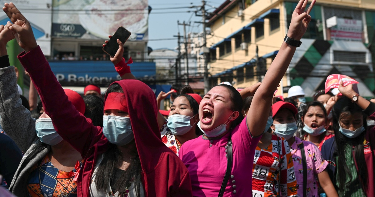 'Close to-total web shutdown' in Myanmar as coup protests unfold