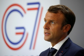 Macron said moves by European nations and the US to rapidly divert a small share of their stocks would not hinder mass vaccination efforts in those countries [File: Philippe Wojazer/Reuters]