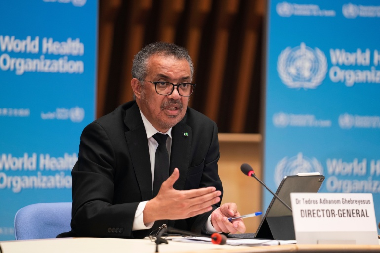 Tedros Adhanom Ghebreyesus, director general of the WHO, said rich countries need to ensure before they seek more vaccines that their requests do not undermine COVAX deals [File: Christopher Black/World Health Organization/Handout via Reuters]