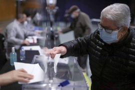 The vote could see a high level of abstentions as Spain battles a third wave of COVID-19 infections [Nacho Doce/Reuters]