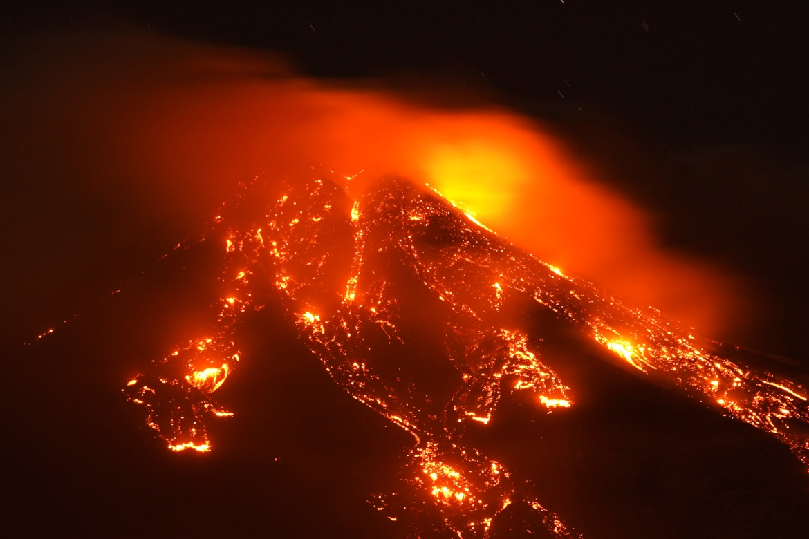 Etna is a popular tourist destination and its eruptions, especially when seen at night, are spectacular. [Antonio Parrinello/Reuters]