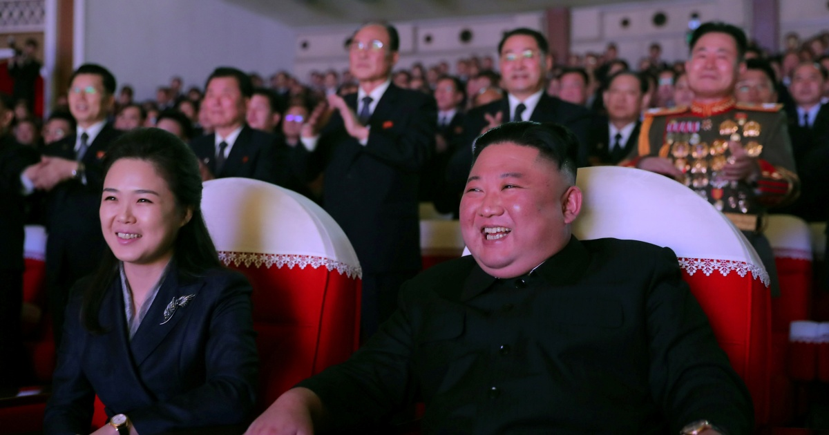 Wife of N Korea's Kim appears in public for first time in a year