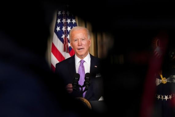 Like all his predecessors, Biden is less interested in supporting the ICC than catering to his own base, writes Kersten [Kevin Lamarque/Reuters/File Photo]