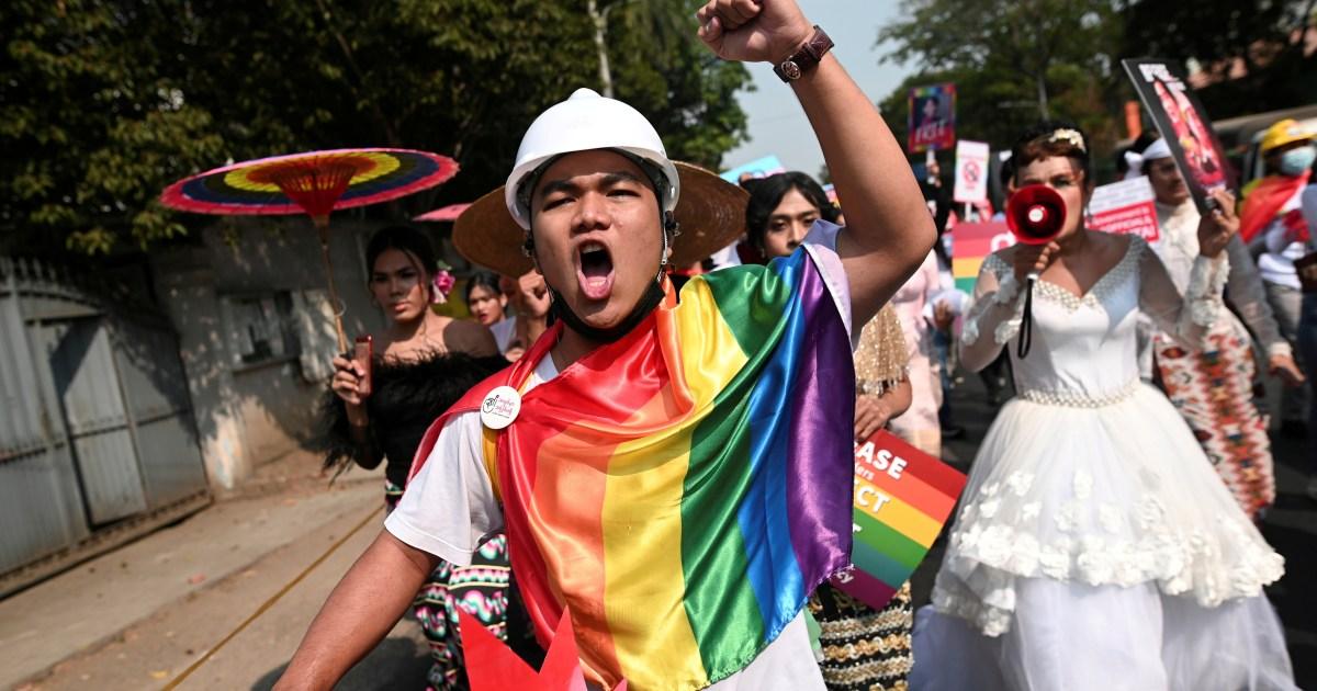 www.aljazeera.com: Myanmar's minorities join protest as anger over death simmers