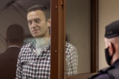 Navalny fell ill in Siberia last August and was flown to Germany, which says it found evidence he had been poisoned by a banned nerve agent [Press Service of Moscow City Court/Reuters]