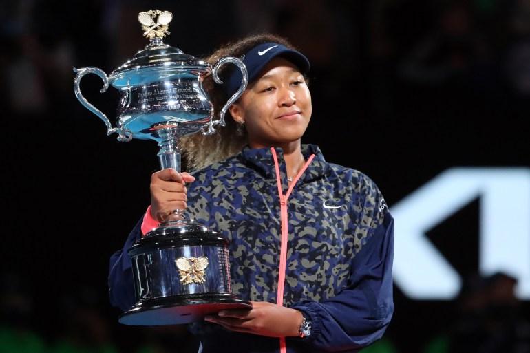 Naomi Osaka telah menjadi atlet wanita terkaya di dunia [Kelly Defina / Reuters]