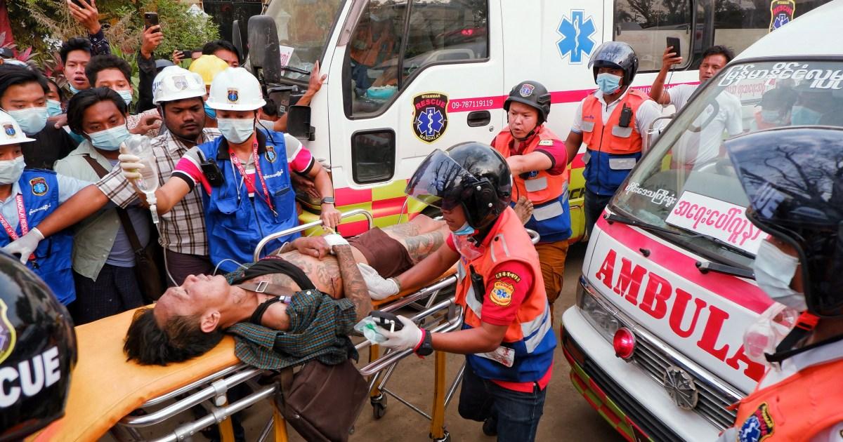 www.aljazeera.com: Myanmar police kill 2 in bloodiest day of anti-coup protests
