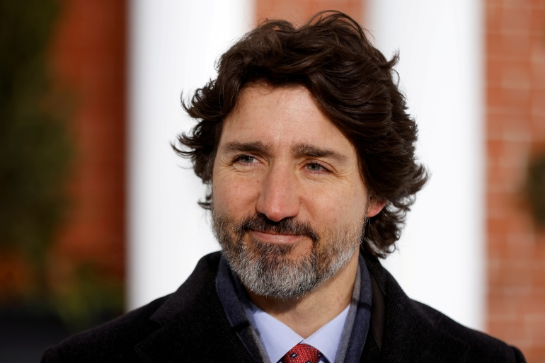 Canadian Prime Minister Justin Trudeau said he and US President Joe Biden would discuss the COVID-19 pandemic and climate change in their meeting next week, among other topics [File: Blair Gable/Reuters]