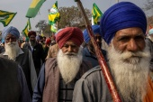 Farmers attend a rally against farm laws in Barnala in the northern state of Punjab [File: Danish Siddiqui/Reuters]