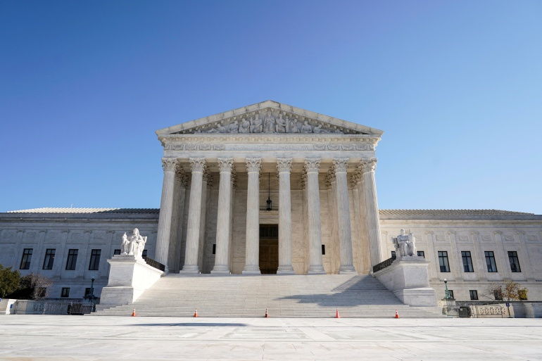 The Supreme Court is seen in Washington, DC, on December 11, 2020 [File: Joshua Roberts/Reuters]