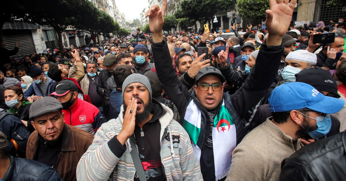 Algerians mark protest movement anniversary with fresh rallies
