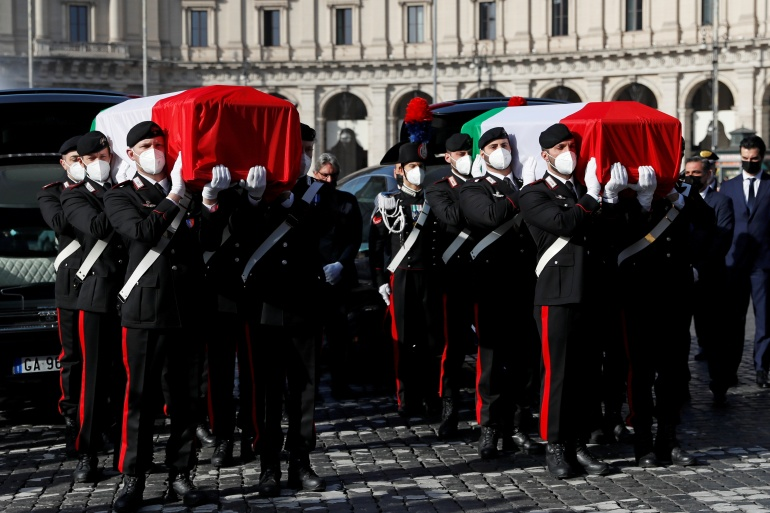 Italy holds state funeral for ambassador, bodyguard killed in DRC | Italy  News | Al Jazeera