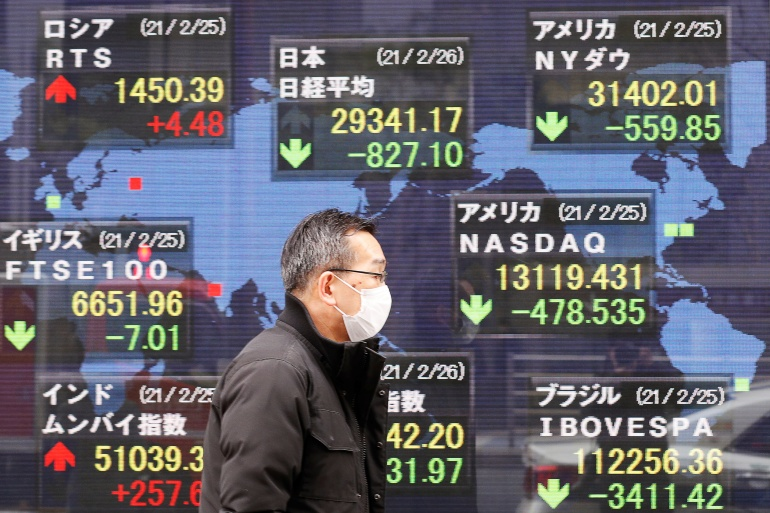 Japanese stocks were among the biggest losers on Friday among Asia-Pacific markets [Kim Kyung-Hoon/Reuters]