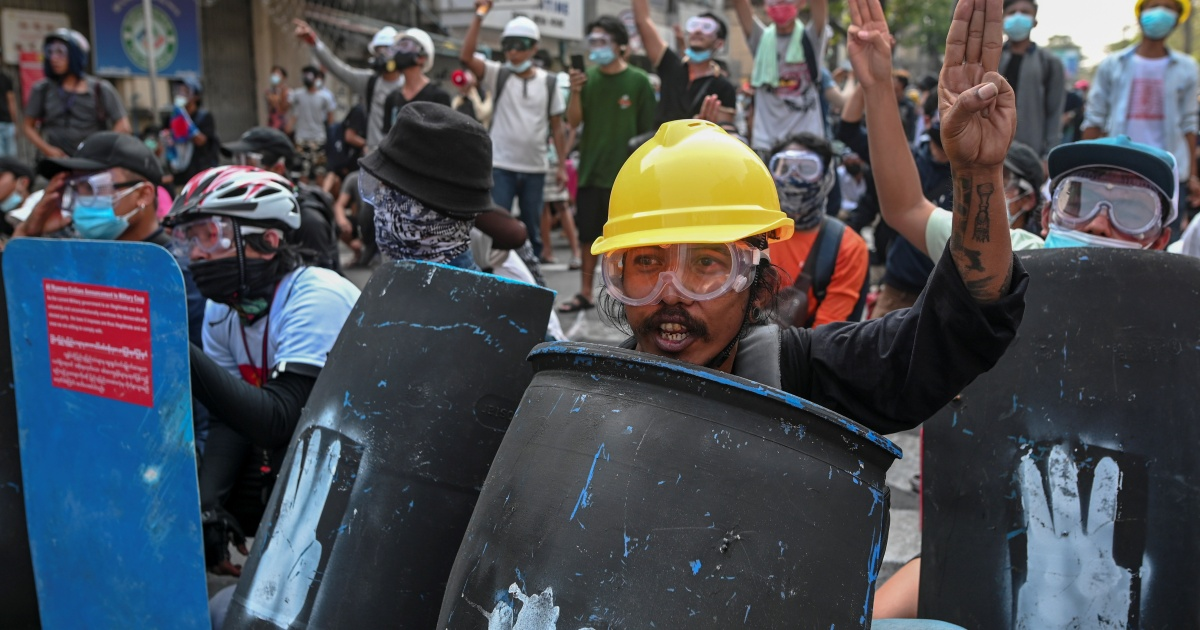 In Pictures: Police escalate crackdown on protests in Myanmar