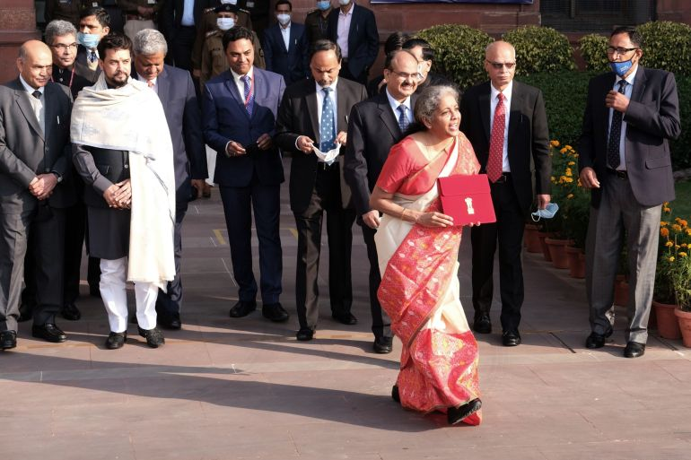 In the annual budget unveiled on Monday, Finance Minister Nirmala Sitharaman proposed increasing healthcare spending to $30.20bn [T. Narayan/Bloomberg]