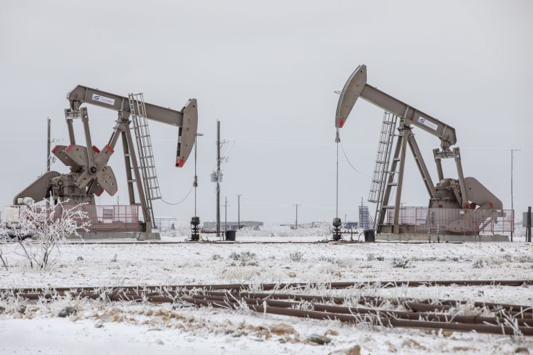 Analysts expect the cold snap in Texas to lead to continuing disruptions to oil supplies for some time more [File: Matthew Busch/Bloomberg]