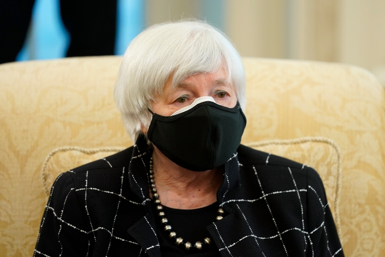 Yellen said that if the federal government fails to spend the money necessary to get the economy quickly back on track, US fiscal soundness will be affected [File: Patrick Semansky/AP Photo]