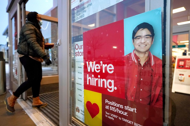 Fewer Americans sought unemployment benefits last week, lowering jobless claims to 793,000, but unemployment remains stubbornly high [File: Steven Senne/AP Photo]