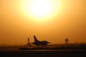F-16 aircraft are stationed at the airbase, and several maintenance companies are present there, employing Iraqi and foreign staff [File: AP]