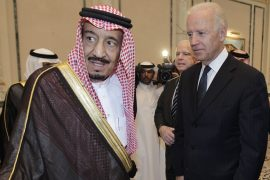 The call scheduled on Wednesday would be the first conversation between Biden, as US president, and King Salman [File: Hassan Ammar/AP Photo]