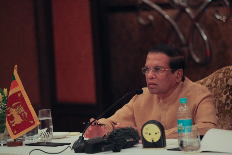 The report said the 'balance of probability' was that Sirisena was told by his intelligence chief about warnings before the attacks occurred [File: Rishabh R Jain/AP]