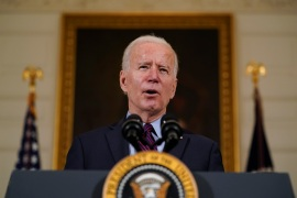 US President Joe Biden has said Iran must make the first move in returning to the 2015 nuclear agreement [File: Alex Brandon/Reuters]