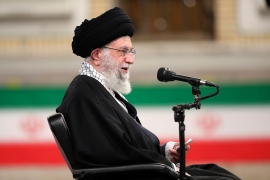 Iranian Supreme Leader Ayatollah Ali Khamenei has demanded 'action, not words' from the US if it wants to revive Tehran's 2015 nuclear deal with world powers [handout: Office of the Iranian Supreme Leader via AP]
