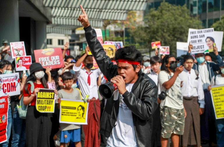 Facebook Ban causes clashes in Yangon