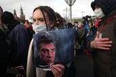 Several thousand people commemorated the anniversary of the 2015 murder of Russian opposition politician Boris Nemtsov in central Moscow [AP Photo]