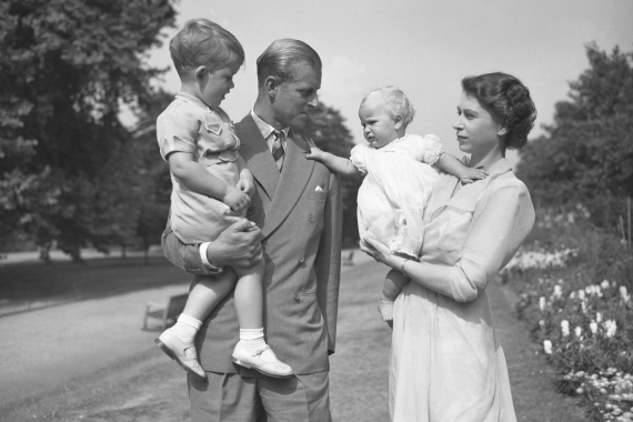 Prince Philip is survived by the queen and their four children as well as eight grandchildren and 10 great-grandchildren [AP Photo/Worth]