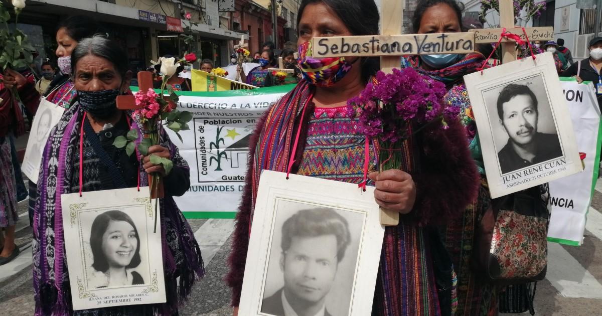 Guatemalan genocide survivors march for justice