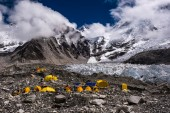 Tents set up at Everest Base Camp on Khumbu glacier [File: Frank Bienewald/LightRocket via Getty Images]
