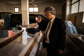 Jose Santos, 62, is an undertaker with 40 years of experience and says the pandemic has stripped the dead of 'dignity' [Jose Sarmento Matos/Al Jazeera]