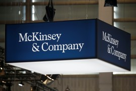 Most of the $573m in the McKinsey & Co payout will go to government programmes fighting opioid addiction and providing treatment, North Carolina Attorney General Josh Stein said on Thursday [File: Charles Platiau/Reuters]