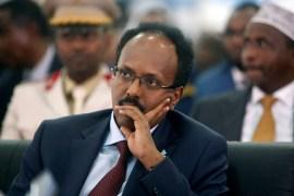 President Farmaajo's term ended on Monday [Feisal Omar/Reuters]