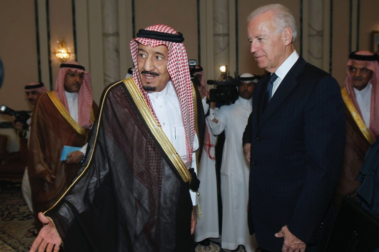 The call scheduled on Wednesday would be the first conversation between Biden, as US president, and King Salman [File: Fahad Shadeed/Reuters]