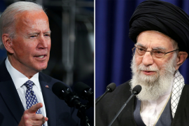 Iranian Supreme Leader Ayatollah Ali Khamenei (Official Khamenei Website/Handout via REUTERS) and US President Joe Biden (REUTERS/Tom Brenner) (Reuters)