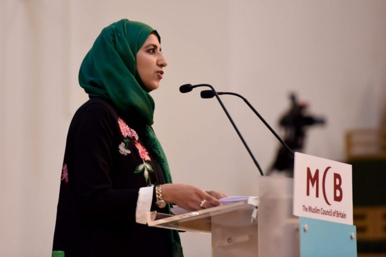 Zara Mohammed adalah sekretaris jenderal wanita pertama di Dewan Muslim Inggris, dan pemimpin termuda organisasi itu [Dewan Muslim Inggris]
