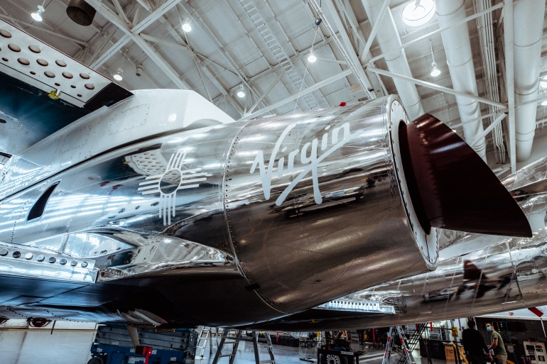 - Zia Sun Symbol on SpaceShipTwo Unity - Virgin Galactic eyes expansion despite launch delay   Space News