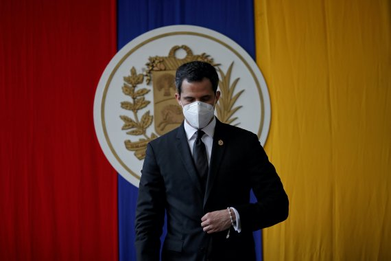 The United States in 2019 recognised Juan Guaido as Venezuela's legitimate president and created a sanctions package against the Maduro government that included the seizure of nearly $350m held in US accounts [File: Manaure Quintero/Reuters]